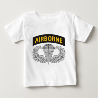 Airborne Jump Wings With Airborne Tab Baby T-Shirt