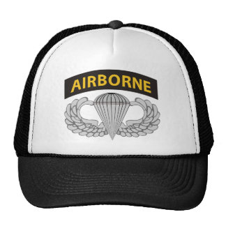 Airborne Jump Wings With Airborne Tab Trucker Hat
