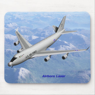 Airborne laser mouse pad