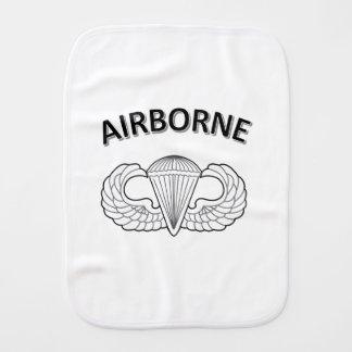 Airborne Logo Burp Cloth