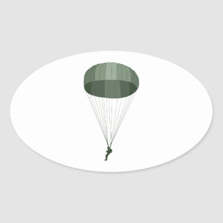 Airborne Paratrooper Oval Sticker
