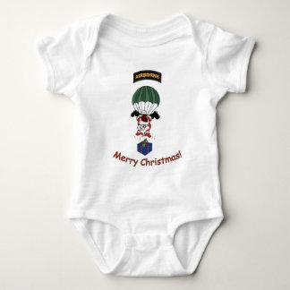 Airborne Santa Baby Bodysuit