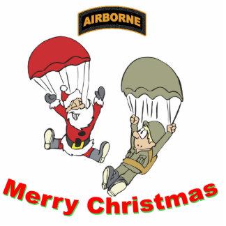 Airborne Santa II Light T-Shirt Photo Sculpture Ornament