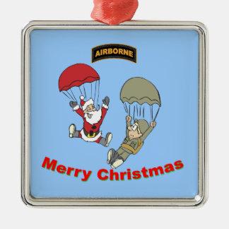 Airborne Santa II Metal Ornament