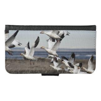 Airborne Snow Geese Samsung Galaxy S6 Wallet Case