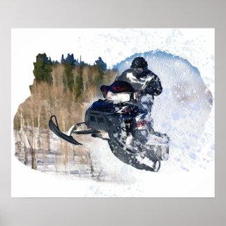 Airborne Snowmobile Poster