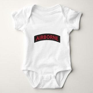 Airborne Tab Black & Red Baby Bodysuit