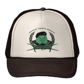 Airborne troops military insignia style trucker hat