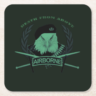 Airborne units army military style square paper coaster