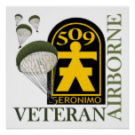 Airborne Veteran - 509th PIR Poster