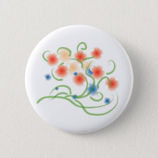 Airbrush and Painting Style Blooms 2 Inch Round Button