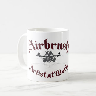 AIRBRUSH ARTIST AT WORK COFFEE MUG