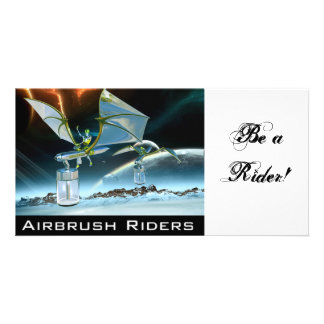 Airbrush Riders PhotoCard by AirbrushFan Customized Photo Card