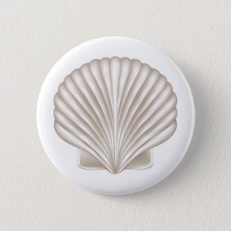Airbrush Style Seashell 2 Inch Round Button