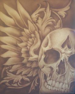 6b4a143304e19 Skull Airbrush T-Shirts & Shirt Designs | Zazzle.ca