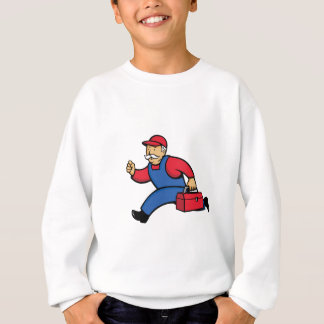 Aircon Technician Running Cartoon Sweatshirt