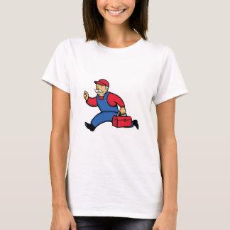 Aircon Technician Running Cartoon T-Shirt