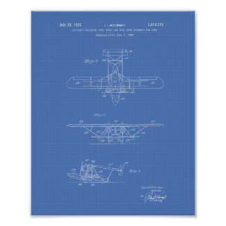 Aircraft 1931 Patent Art Blueprint Poster