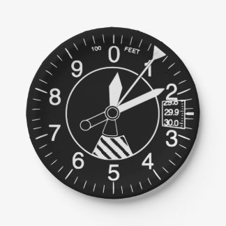 Aircraft Altimeter Paper Plate