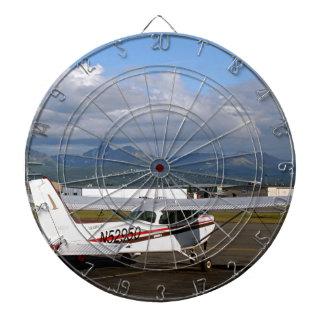 Aircraft, Anchorage, Alaska Dartboard With Darts