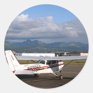 Aircraft, Anchorage, Alaska Round Sticker