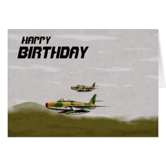 Aircraft Birthday Card