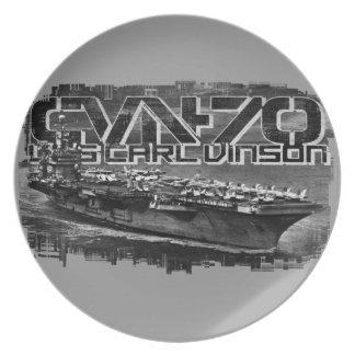 Aircraft carrier Carl Vinson Melamine Plate