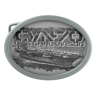 Aircraft carrier Carl Vinson Pewter Belt Buckle