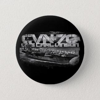 Aircraft carrier Carl Vinson Round Button Button