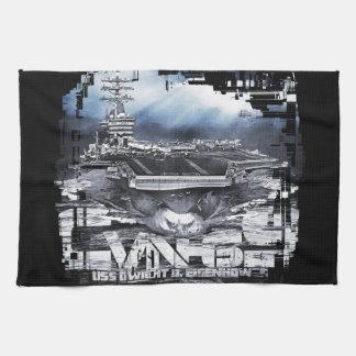 Aircraft carrier D.D.Eisenhower Kitchen Towels