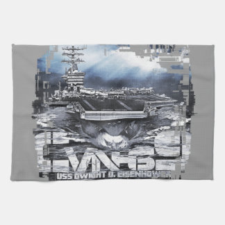 Aircraft carrier D.D.Eisenhower Kitchen Towels