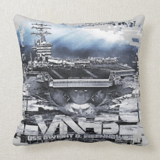 Aircraft carrier Dwight D. Eisenhower Throw Pillow