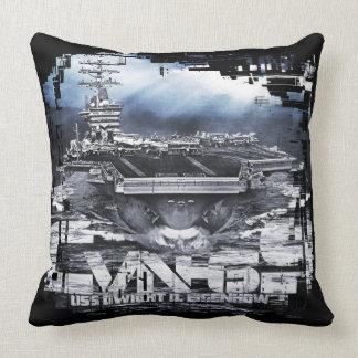 Aircraft carrier Dwight D. Eisenhower Throw Pillow