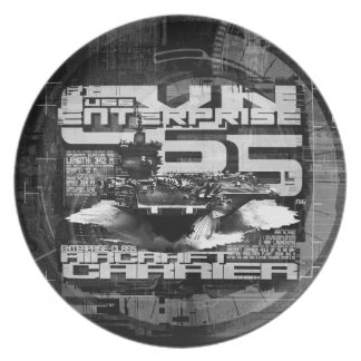 Aircraft carrier Enterprise Melamine Plate