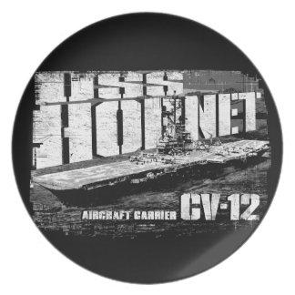 Aircraft carrier Hornet Melamine Plate