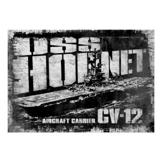 Aircraft carrier Hornet Poster