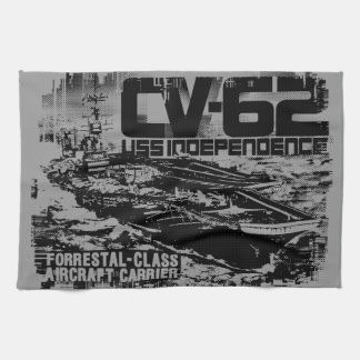 Aircraft carrier Independence Dawsonsf kitchentow Kitchen Towels