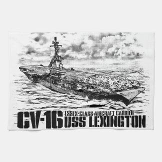 Aircraft carrier Lexington Dawsonsf kitchentowel Hand Towels