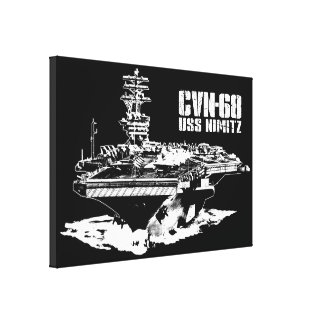 Aircraft carrier Nimitz Wrappedcanvas Canvas Print
