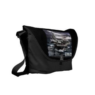 Aircraft carrier Theodore Roosevelt Messenger Bag
