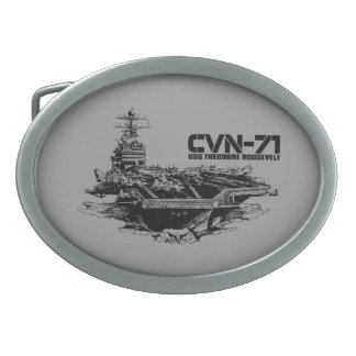 Aircraft carrier Theodore Roosevelt Planetjill be Oval Belt Buckles