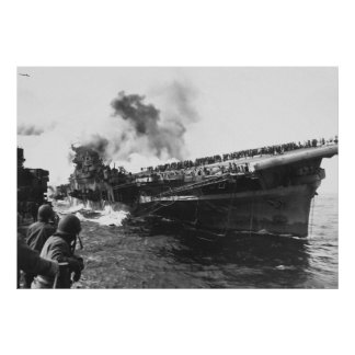 Aircraft carrier USS Franklin (CV-13) Pearl Harbor Poster