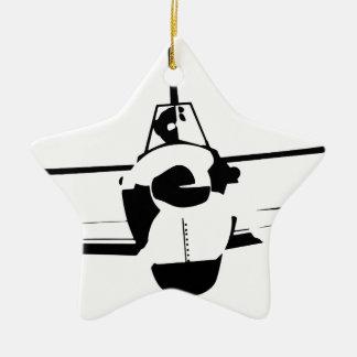 Aircraft Ceramic Star Ornament