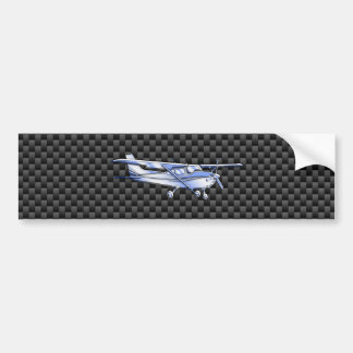 Aircraft Chrome Like Cessna Black Carbon Fiber Bumper Sticker