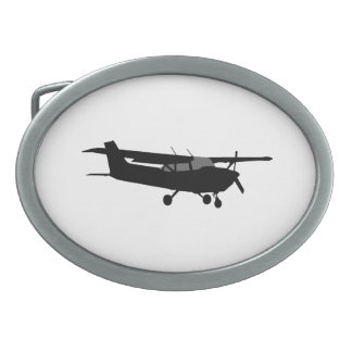 Aircraft Classic Cessna Black Silhouette Flying Belt Buckles