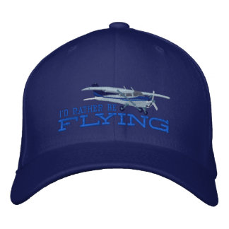 Aircraft Classic Cessna I'd Rather Be Flying Baseball Cap