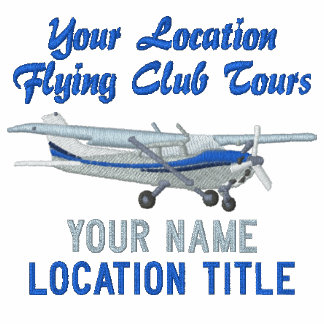 Aircraft Classic Cessna Pilot Custom Personalized Polo Shirts