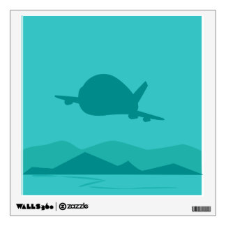 Aircraft Flying Over The Mountain Wall Decal