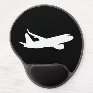 Aircraft Jet Liner Silhouette Flying Black Decor Gel Mouse Pad