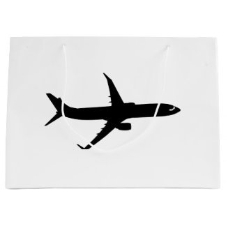 Aircraft Jetliner Shadow Flight Customize Color Large Gift Bag